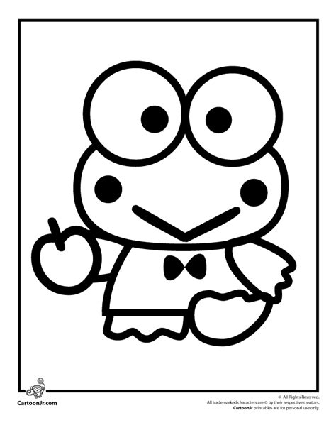 Keroppi Coloring Pages coloring pages keroppi coloring pages
