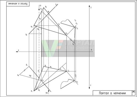 Drawing Xyz Plane by Distance From A Point To A Plane Perpendicular To The Plane