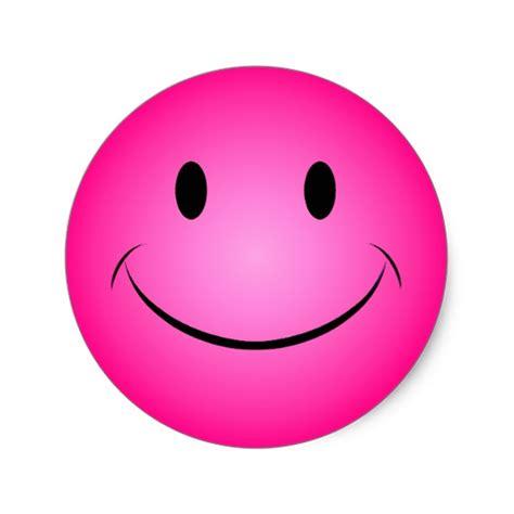 Aufkleber Rund Pink by Rosa Smiley Aufkleber Runder Aufkleber Zazzle