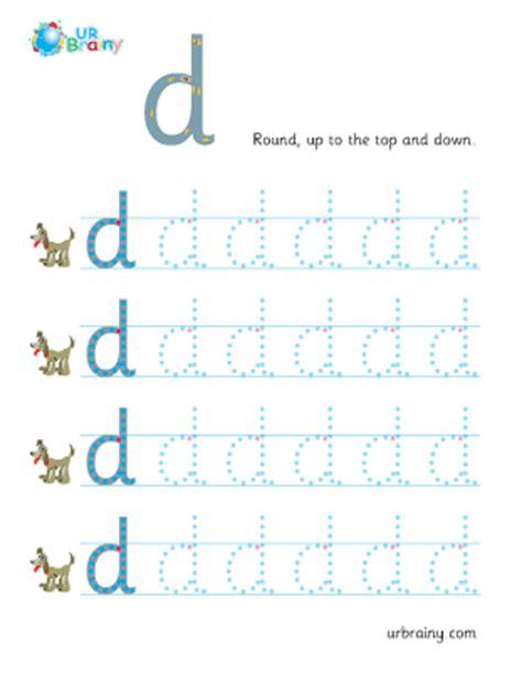 d handwriting worksheet for key stage 1