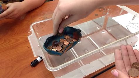 how to make a boat out of clay buoyancy experiment clay boat youtube