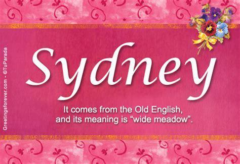 Sydney Name Meaning   Sydney name Origin, Name Sydney