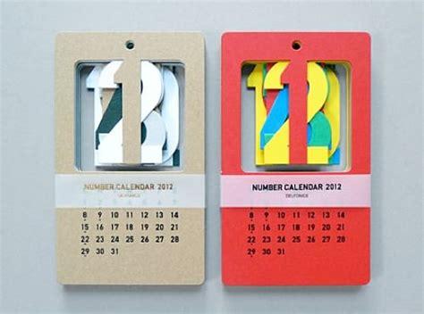 Handmade Calendar Designs - 2012 cut out calendar by present correct handmade