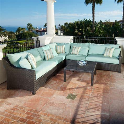 shop rst brands deco 6 wicker patio conversation set