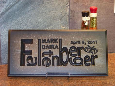 Handmade Name Plaques - handmade wedding name plaque by palmer union design