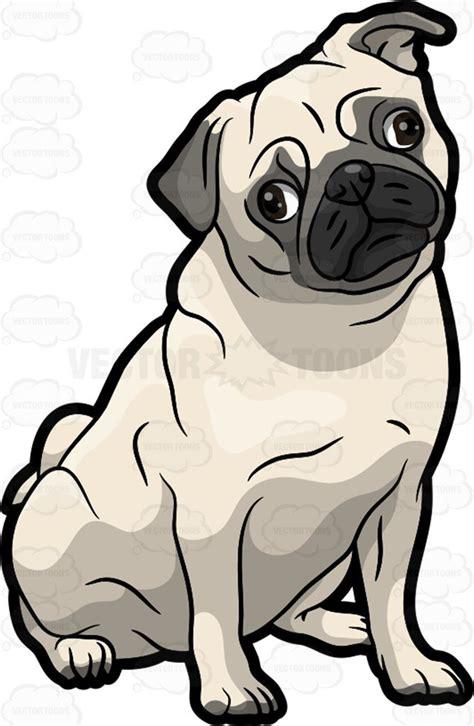 pug clip free a curious pug vector clip