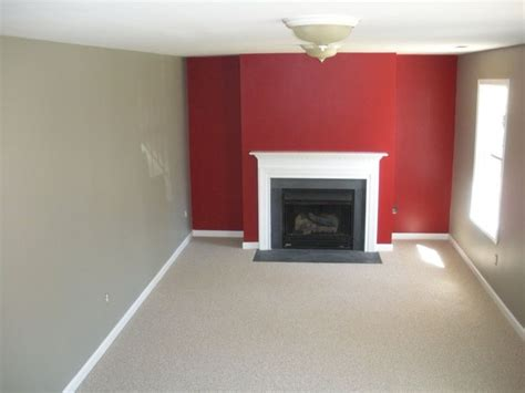 red accent wall in living room benjamin moore caliente red rockport gray and wilmington