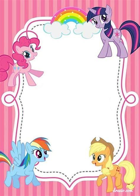 updated  printable   pony birthday invitations  invitation templates drevio