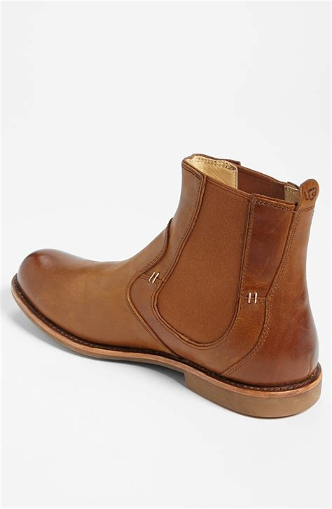 mens brown ugg boots ugg stevenson chelsea boot in brown for chestnut lyst