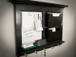 home mail black wall mail organizer magnetic whiteboard by