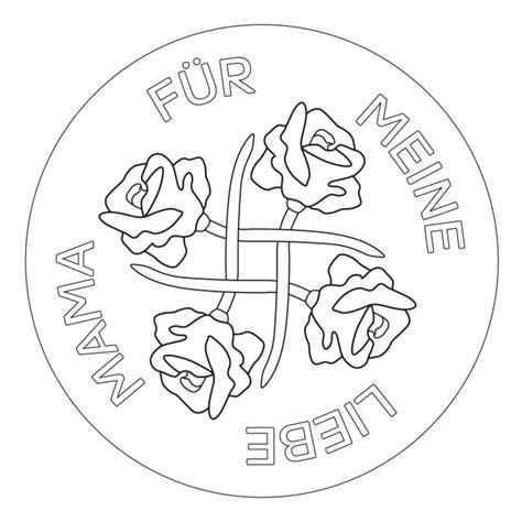 Rosen Mandala für Kindergarten, KiTa und Schule