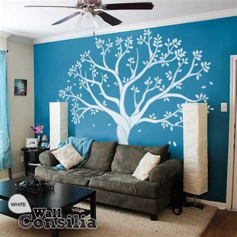 white tree wall sticker white tree wall decal for family room or nursery