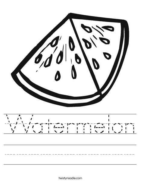 preschool watermelon coloring pages watermelon worksheet twisty noodle