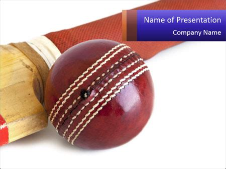 cricket themes for powerpoint 2007 cricket ball powerpoint template backgrounds id