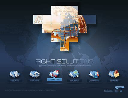 Right Solutions Flash Website Template Best Website Templates Dynamic Flash Website Templates Free
