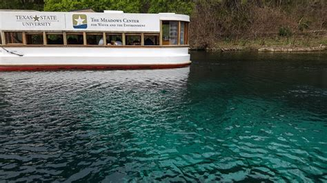 san marcos glass bottom boat tour trailing away - Glass Bottom Boat San Marcos Texas