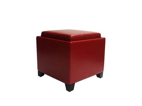 modern storage ottoman contemporary storage ottoman with tray red