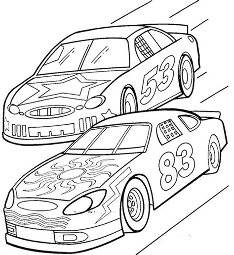 race coloring pages az coloring pages
