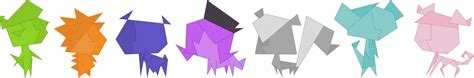 Origami Pets - origami pets by fercho262 on deviantart