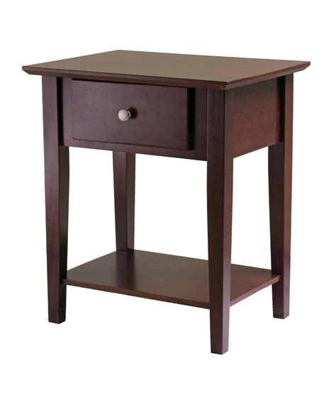 Height Of Nightstand by Winsome Shaker Night Stand With Drawer By Oj Commerce