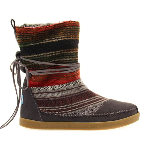 buy toms womens nepal boots in mixed woven at hurleys