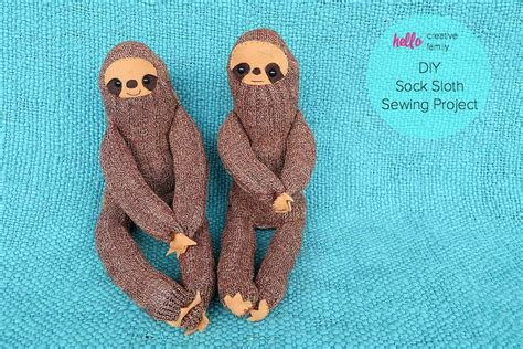diy sock monkey slippers diy sock sloth sewing project hello creative family