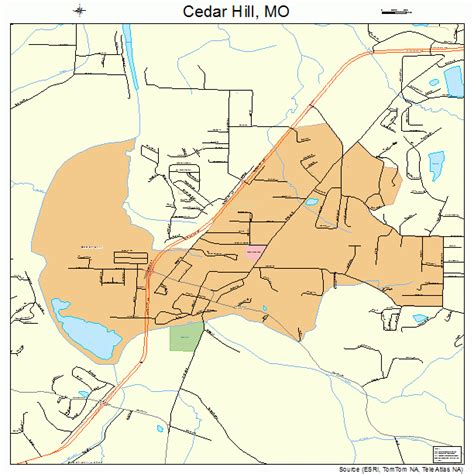 map of cedar hill cedar hill missouri map 2912358