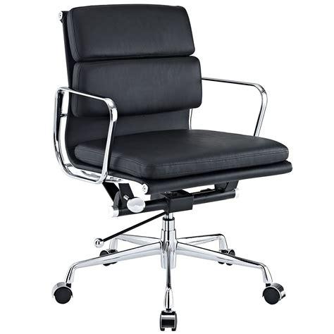 designer chairs replica interiors design furniture chrome aluminum frame black leather swivel