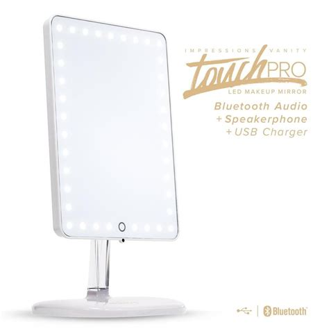 vanity mirror with lights and bluetooth impressions vanity touch pro led makeup mirror with