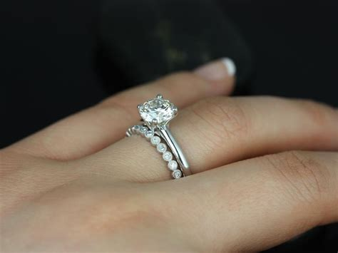 Engagement Bands For by Wedding Rings Hepburn S Stacked Set Of Bezel
