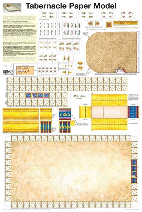 wall chart laminated tabernacle paper model laminated