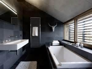 salle de bain contemporaine grise
