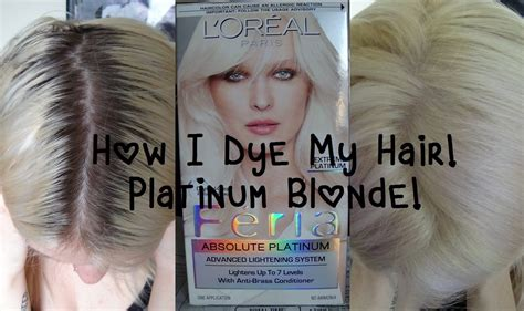 best box hair color for blonde hair updated how i dye my hair platinum blonde youtube