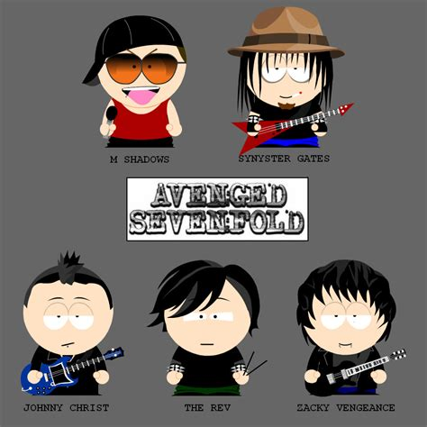 avenged sevenfold in south park form avenged sevenfold