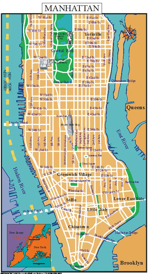 map of manhattan ny new york boroughs of new york city sights and cultural attractions