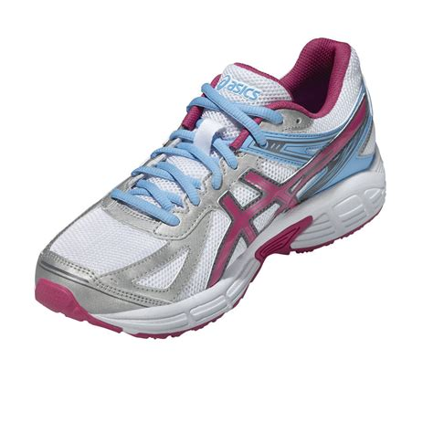 white womens running shoes trainers asics patriot 7 womens running shoes white pink