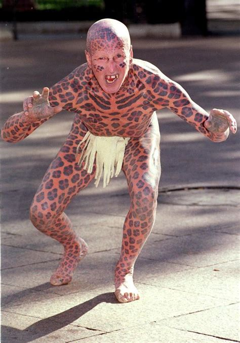 most tattooed people in the world devil man leopard man