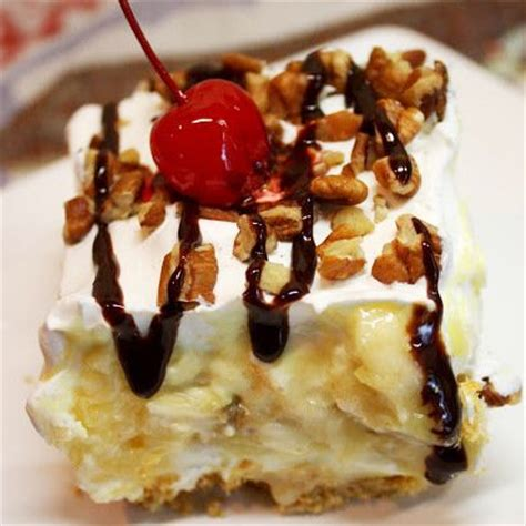 easy banana split cake recipe from grandmother s kitchen desserts four layer