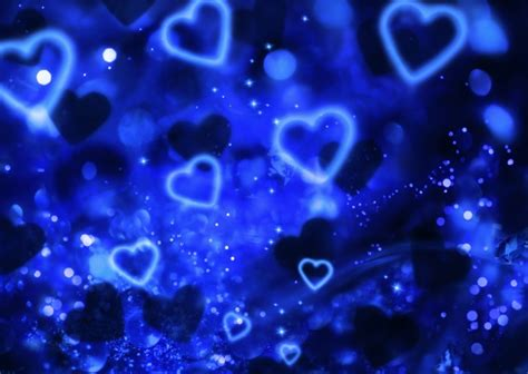 wallpaper blue heart pictures blue heart background of stars pictures over millions