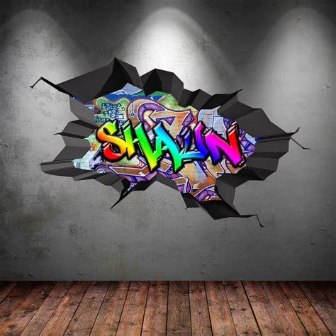 details  multi colour personalised  graffiti