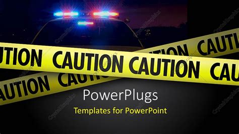 Powerpoint Template A Representation Of A Crime Scene Displaying Yellow Caution Tape 6582 Murder Powerpoint Template