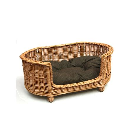 dog settees buy luxury oval wicker dog settee the pet warehouse uk
