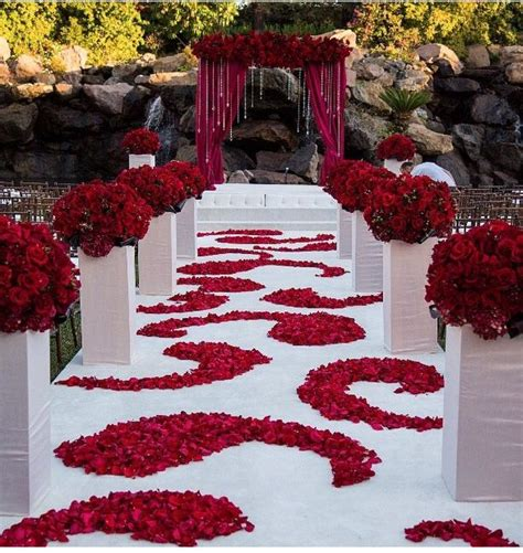 red and white wedding ceremony wedding red wedding