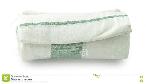 serviette de cuisine serviette de cuisine blanche et verte sur le fond blanc