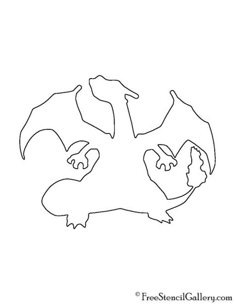 charizard template charizard stencils images images