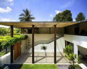 contemporary courtyard house in singapore idesignarch