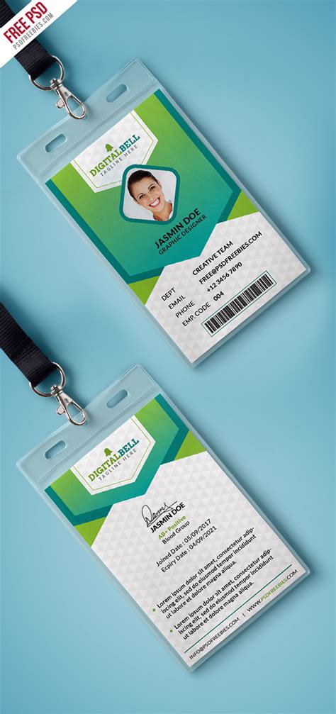 card templates psd behance free psd multipurpose photo identity card psd on behance