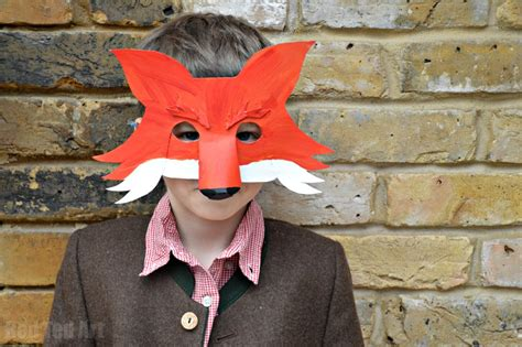 fantastic mr fox diy mask for world book day party