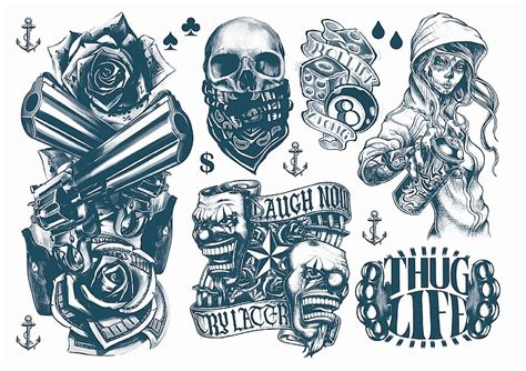 gangsta 2 week temporary tattoos australia inspired by