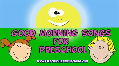 songs for preschool preschool circle time songs morning songs
